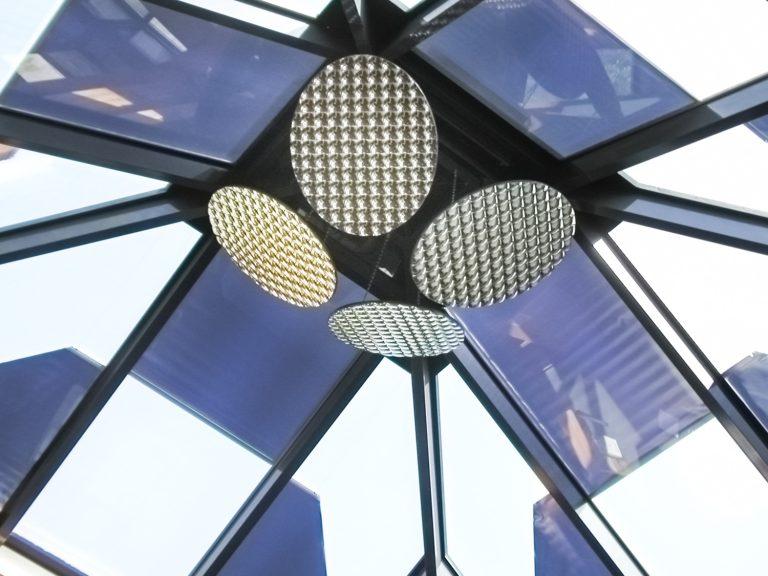 Sonnenschutzrollo / Beschattung für trapezförmige Isoliergläser
